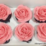 Flower Cup Cakes - Piped Butter Cream Roses.