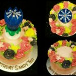 Flower Cake + Musical L:otus Candle