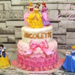 2 Tier Customized Cake + Princess Toy Toppers