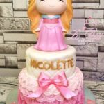 2 tier customized cake + Princess Toy Topper