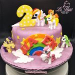 Customized Fondant Cake + My Little Pony Toy Toppers