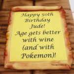 The Wording Scroll - 3D Wine Bottle in Wooden Crate Cake
