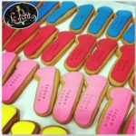 number one first birthday customized cookies