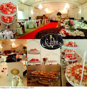 Wedding Event - The Fullerton Hotel Singapore, Tea Party Catering.
