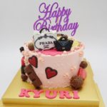 Bag Money Pulling Cake With Chocolates And Hearts
