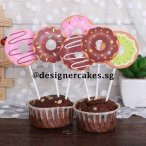 Cake Decorating Supplies - Donut Cake, Cup Cake Toppers