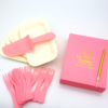 1x Knife + 1x Long Gold Candle + 10Sets of Paper Plates & Cutlery 赠送1x刀+1x特长金色蜡烛 + 10x套餐具